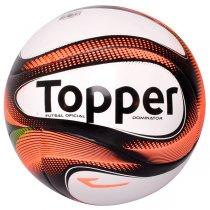 Imagem - Bola Futsal Topper Dominator 4200712 Branco/Preto/Coral - 220613