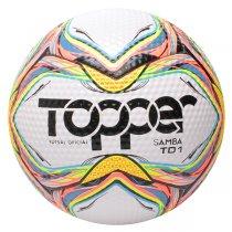Imagem - Bola Futsal Topper Samba Futsal TDI 5132 Branco/Vermelho/Azul - 249089