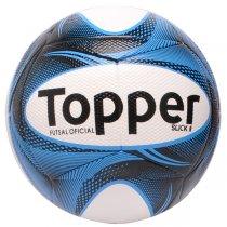 Imagem - Bola Futsal Topper Slick 2 4201882 Branco/Preto/Azul - 232432