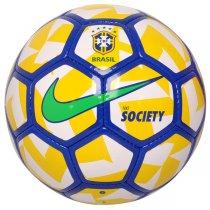 Imagem - Bola Society Nike CBF SC2919-100 Branco/Azul/Amarelo - 194076