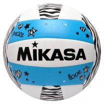 Imagem - Bola Vôlei Mikasa VXS-ZB-B Branco/Azul/Preto - 247784