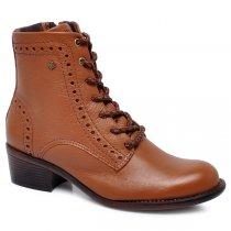 Imagem - Bota Ankle Boot Cravo E Canela 164708-3 Couro Whisky - 017030502590941