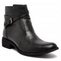 Imagem - Bota Ankle Boot Via Paula Couro 4014-0124 Feminino Preto