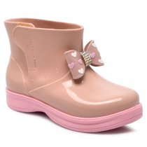 Imagem - Bota Infantil Coturno World Colors 060.027 Nude/Rosa Bb - 017054501131028