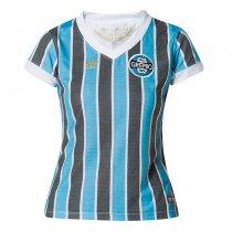 Imagem - Camiseta Grêmio Feminina Retro 1983 Umbro 3G00032 Azul Celeste/Preto/Branco - 123008300011058