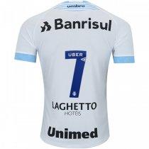 Imagem - Camiseta Grêmio Masculina Umbro Of.2 2018 Fan 3G160653 Branco/Azul Celeste