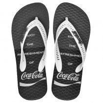 Imagem - Chinelo Coca-Cola Motto Masculino CC3087 Preto/Branco