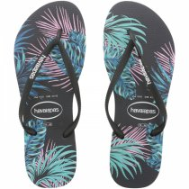 Imagem - Chinelo Havaianas Slim Tropical FL Preto/Preto/Day Break - 005070500562691