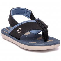 Imagem - Chinelo Infantil Cartago Mini Dedo Masculino 11559 Grendene Preto/Azul