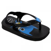 Chinelo Havaianas Baby New Herois Cf Preto