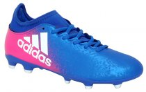 Imagem - Chuteira Campo Adidas X 16. Bb5641 Azul/Branco/Rosa Pink - 021008400271891