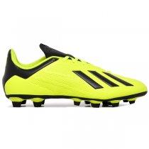 Imagem - Chuteira Campo Adidas X 18.4 DB2188 Amarelo/Preto/Branco - 021008400551775