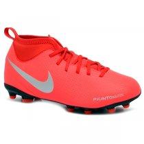 Imagem - Chuteira Campo Infantil Nike Phantom VSN CLUB DF AO3288-600  Vermelho Cinza 3e6fb424ad33a