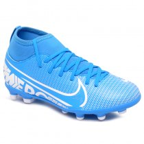 Imagem - Chuteira Campo Infantil Nike Superfly 7 Club AT8150-414 Azul/Branco - 021057400381102