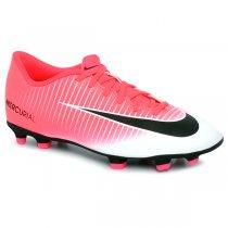 Imagem - Chuteira Campo Nike Mercurial Vortex Rosa Pink/Preto/Branco - 021008400291970