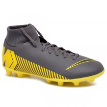 1bf29ccc52 Imagem - Chuteira Campo Infantil Nike Superfly 6 Club AH7339-070 Cinza Amarelo  -