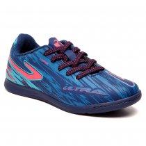 Imagem - Chuteira Futsal Infantil Topper Ultra IV Azul/Pink