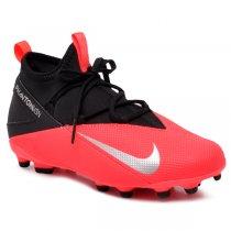 Imagem - Chuteira Infantil Nike Jr Phantom VSN 2 Club CD4061-606 Preto/Vermelho Neon - 021057400432819