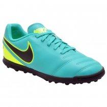 Imagem - Chuteira Society Infantil Masculina Nike Tiempo 819197-307 Jade - 022057400011519