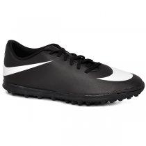 e5d392baa7070 Chuteira Society Nike Bravata 768917-011 Preto Branco