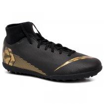 Imagem - Chuteira Society Nike Superfly 6 Club AH7372-077 Preto/Dourado - 022047400401546