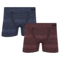 Imagem - Kit 2 Cuecas Boxer Lupo 00542-011 Microfibra Sem Costura Azul/Vermelho