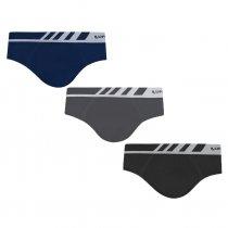Imagem - Kit 3 Cuecas Slip Lupo Microfibra Sem Costura 00691-002 3 Cores