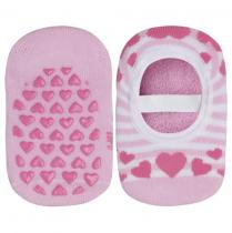 Imagem - Meia Sapatilha Infantil Lupo Baby 2076-001 Antiderrapante Rosa - 0001