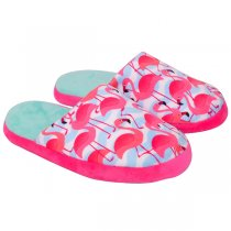 Imagem - Pantufa Flamingo Feminina Ricsen 12129/1 Rosa/Verde - 006028500381790