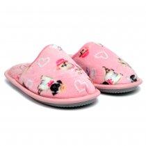 Imagem - Pantufa Leffa Pets 710 Infantil Feminina Rosa
