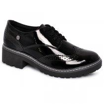 Sapato Feminino Quiz 45-54804 Preto/Preto/Cinza