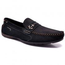 Imagem - Sapato Mocassim Pegada Plus Size Couro 540708-06 Marinho/Pinhão - 015005201100007