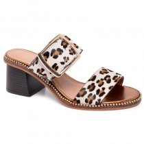 Imagem - Tamanco Animal Print Cravo E Canela 163901-1 Onça/Off White - 016005500952644