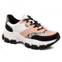 Imagem - Tênis Chunk Sneaker Dakota G2491 Branco/Preto/Nude - 001005503502849