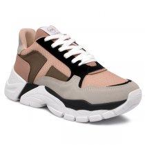 Imagem - Tênis Chunky Dad Sneaker Via Marte 20-2309 Nobuck Grey/Preto/Arenito/Rose - 001005503612875