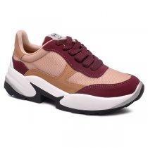 Imagem - Tênis Chunky Dad Sneaker Via Marte 20-4001 Nobuck Marsala/Arenito/Deserto - 001005503582871