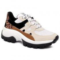 Imagem - Tênis Chunky Sneaker Via Marte 20-7604 Branco/Preto/Centeio - 001005503522849