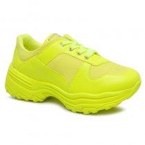 Imagem - Tênis Dad Sneaker Chunky Quiz 66-1771-01 Napa Amarelo Neon - 001005503361817
