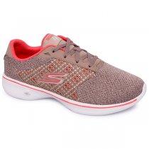 Imagem - Tênis Feminino Skechers Go Walk 4 Gow-14146 Taupe/Coral - 001003300902241