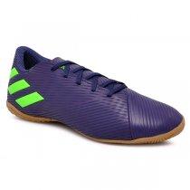 Imagem - Tênis Futsal Adidas Nemeziz Messi 19.4 EF1810 Azul Marinho/Verde