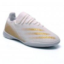 Imagem - Tênis Futsal Adidas X Ghosted.3 Infantil Branco/Dourado