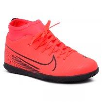 Imagem - Tênis Futsal Botinha Infantil Nike Jr Superfly 7 AT8153-606 Vermelho/Preto - 019031401121116
