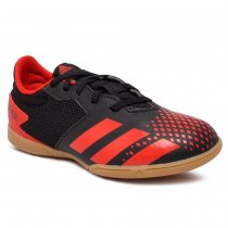 Imagem - Tênis Futsal Infantil Adidas Predator 20.4 In Sala J EF1979 Preto/Vermelho