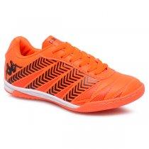 Imagem - Tênis Futsal Infantil Kappa Brayan 35111YW Laranja/Preto - 019031401212293