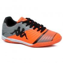 Imagem - Tênis Futsal Infantil Kappa Striker 2 8358 Laranja/Preto - 019031400932293