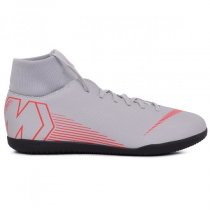Imagem - Tênis Futsal Infantil Nike Superfleyx6 CLB AH7346-060 Cinza - 019031400610033