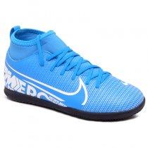 Imagem - Tênis Futsal Infantil Nike Superfly 7 Club AT8153-414 Azul/Branco - 019031400941102