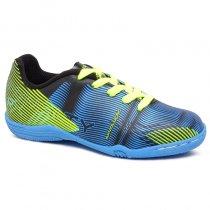 Imagem - Tênis Futsal Infantil Penalty Rx Ix 126168 Preto/Azul/Amarelo - 019031400840262