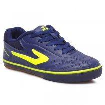 Imagem - Tênis Futsal Infantil Topper Dominator 3 JR Marinho/Verde Neon - 019031401251882