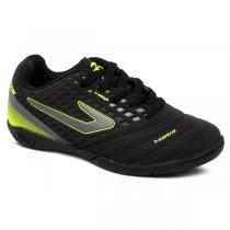 Imagem - Tenis Futsal Infantil Topper Drible 3 TP01140002 Preto/Chumbo/Amarelo Neon - 019031401191451